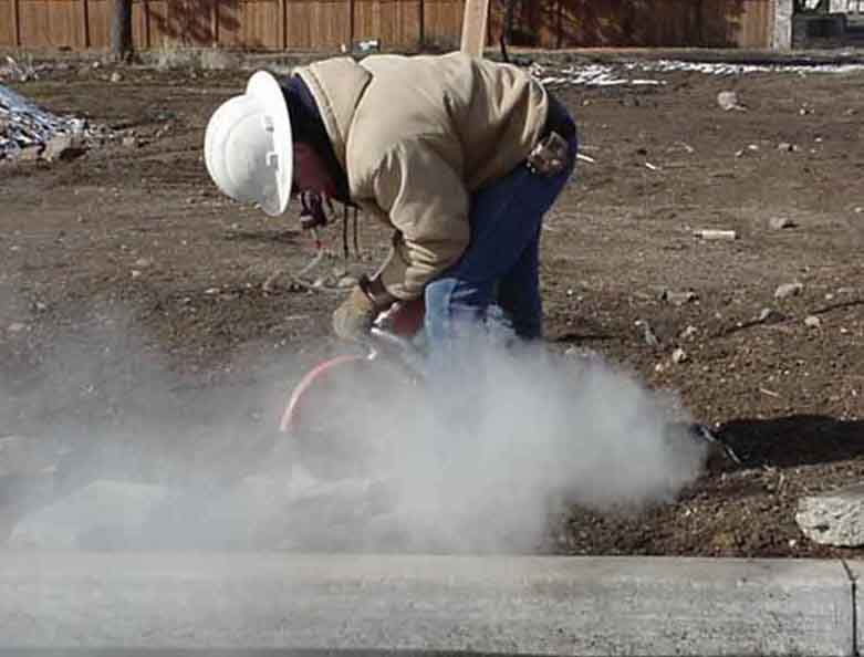 Concrete cutting respirators industrial hygiene in for Cleaning concrete dust